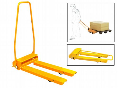 300KG 1100MM Fork Mini Mechanical Pallet Truck - Lifter Mechanic Manual Load Jack Mover
